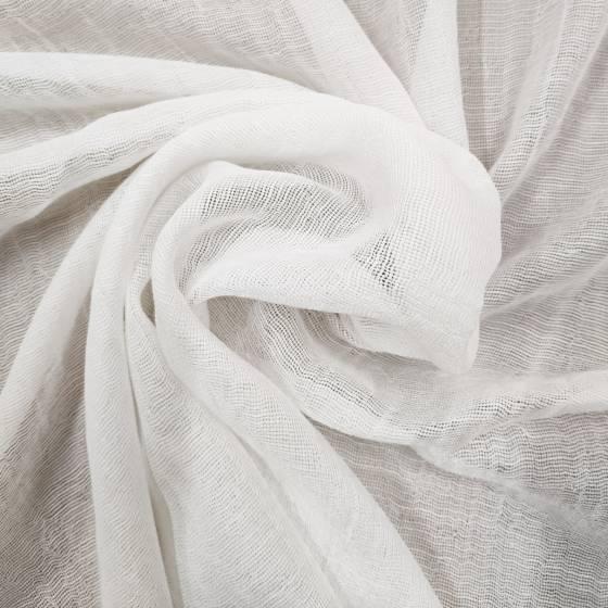 Tessuto per tendaggio tinta unita in misto seta effetto stropicciato