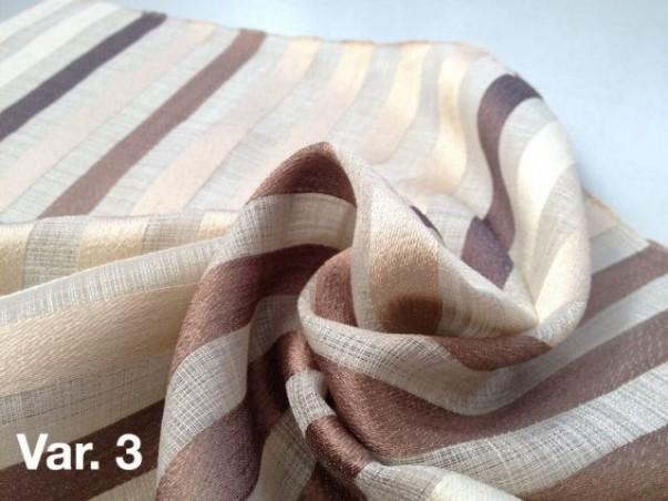Tessuto tendaggio Bristol motivo a righe verticali colorate - sfondo beige/bianco2