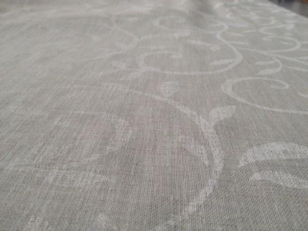 Tessuto tendaggio motivo floreale - bianco/beige/tortora2