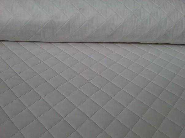 Tessuto trapuntato per rivestimenti e tappezzeria ecopelle - bianco/nero2
