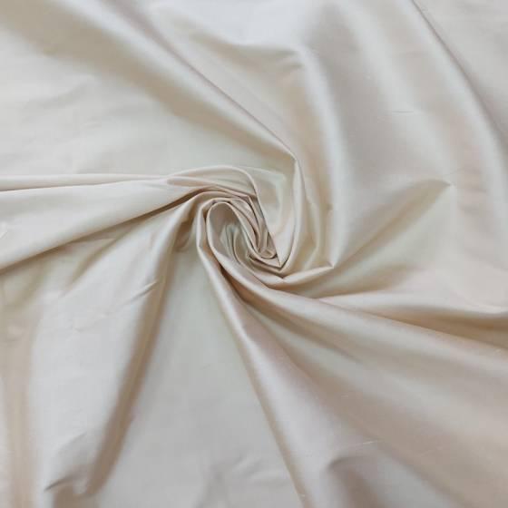 Tessuto elegante seta taffetà - avorio/panna