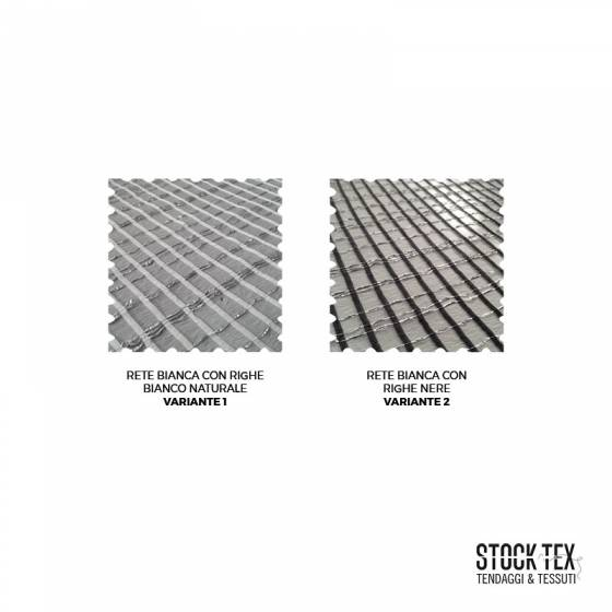 Tessuto tendaggio a rete con fili luccicanti - bianco/nero