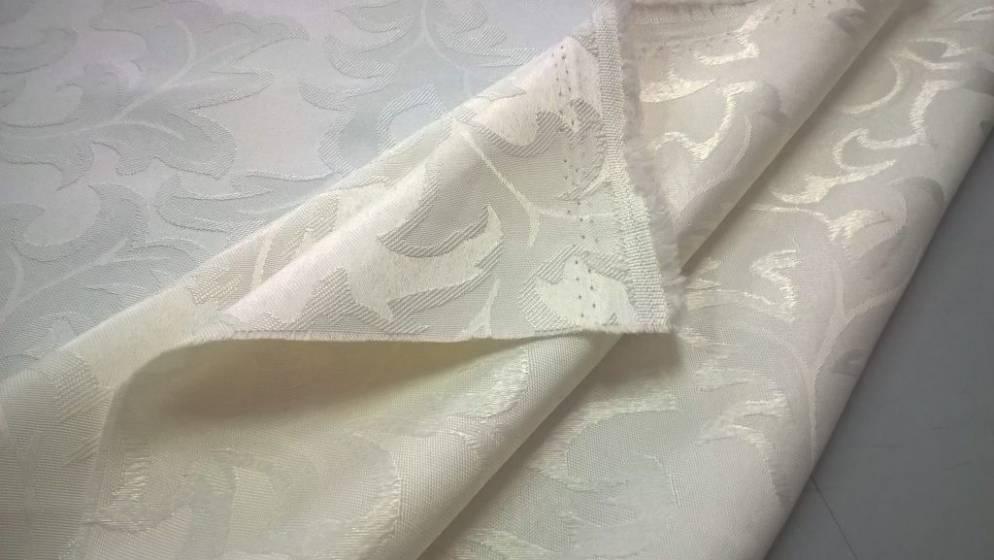 Tessuto per arredo motivo damascato - colore panna