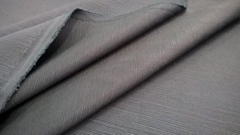 Tessuto per arredo con effetto a righe - colore nero