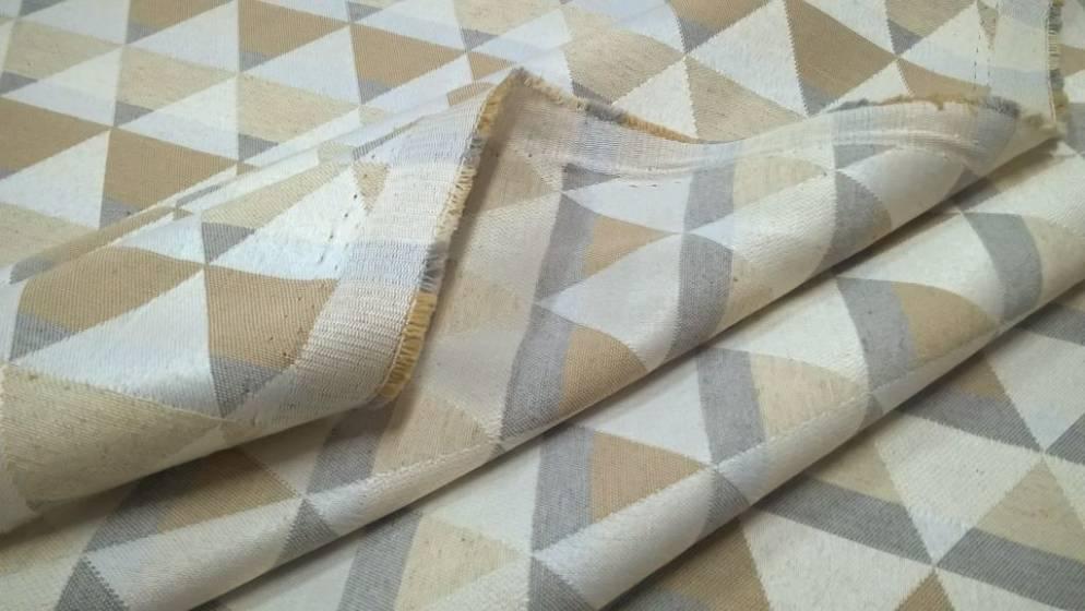 Tessuto per arredo nordico motivo geometrico - beige2