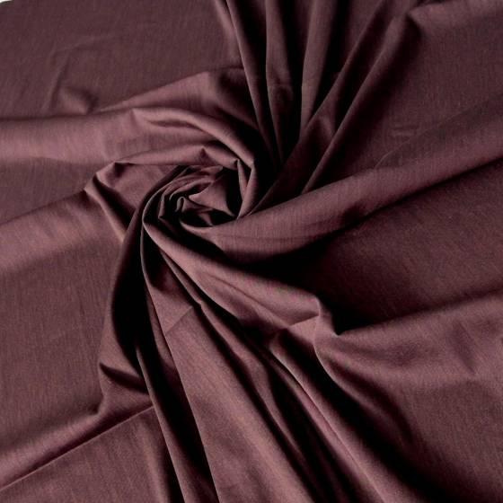 Tessuto abiti in misto cotone mélange - bordeaux