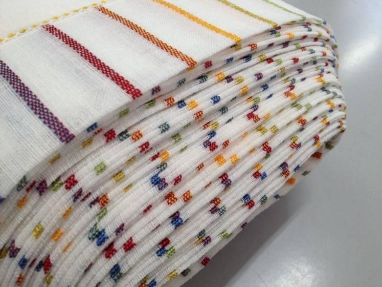 Tendino bordato a crochet e ricamo multicolor - bianco2