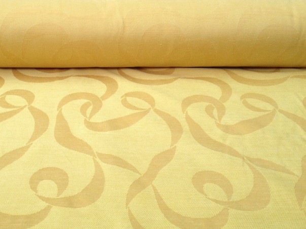 Tessuto per arredo e rivestimento a fantasia astratta -giallo