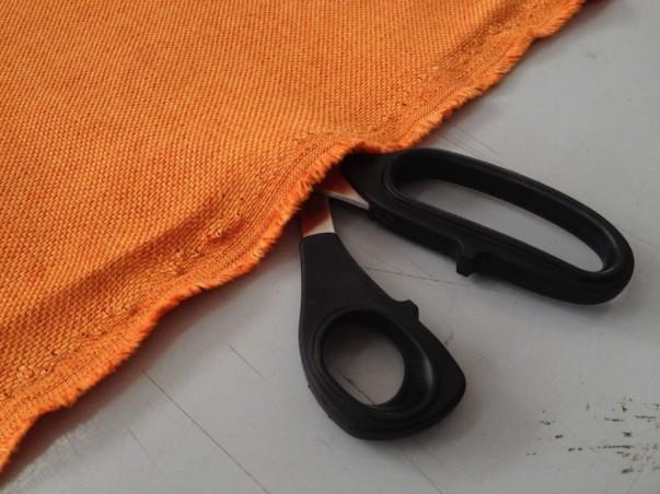 Tessuto per arredo e rivestimento misto cotone resistente -arancione2