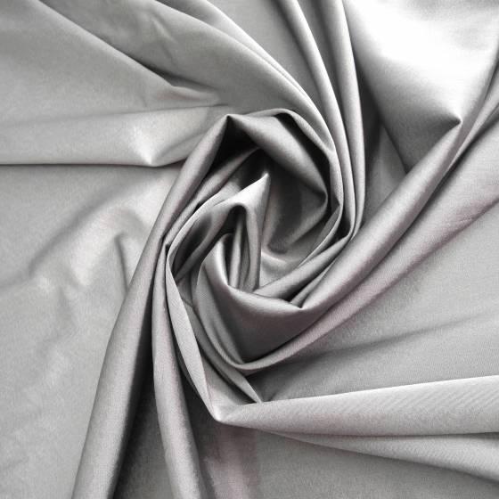 Tessuto per abiti e tailleur in misto cotone - grigio