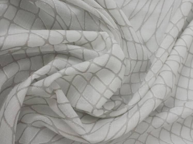 Tendaggio motivo a rete ondulata - bianco e grigio
