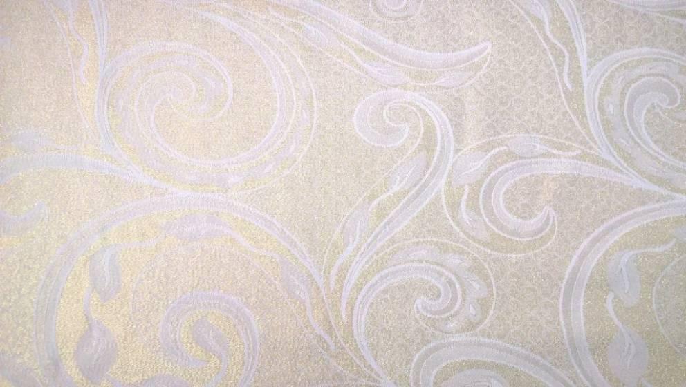 Tessuto arredo double face con motivi oro - panna2