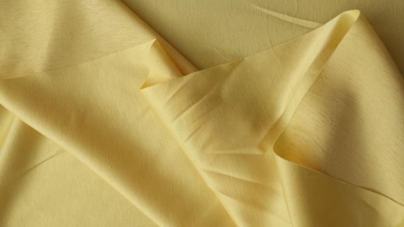 Tendaggio in shantung di poliestere - giallo luminoso