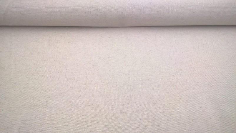 Tessuto in lino e misto cotone stile shabby - panna2