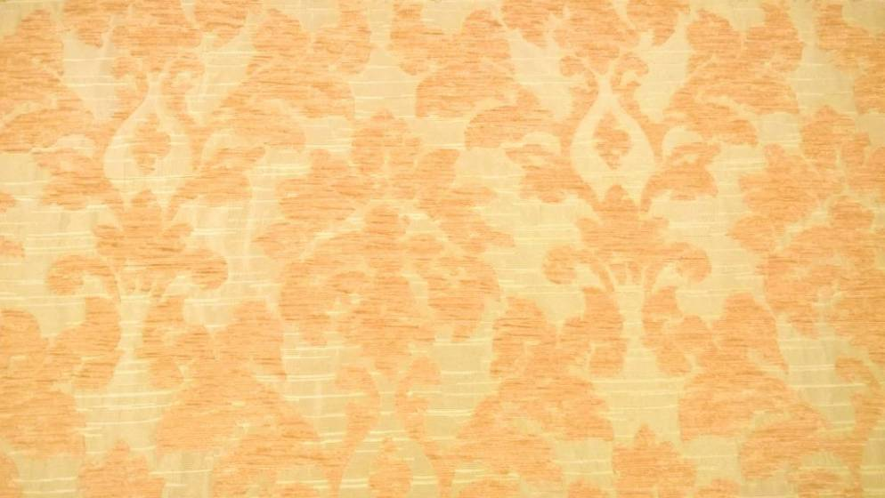 Tessuto arredo fantasia damascato ad effetto cinigliato - oro2