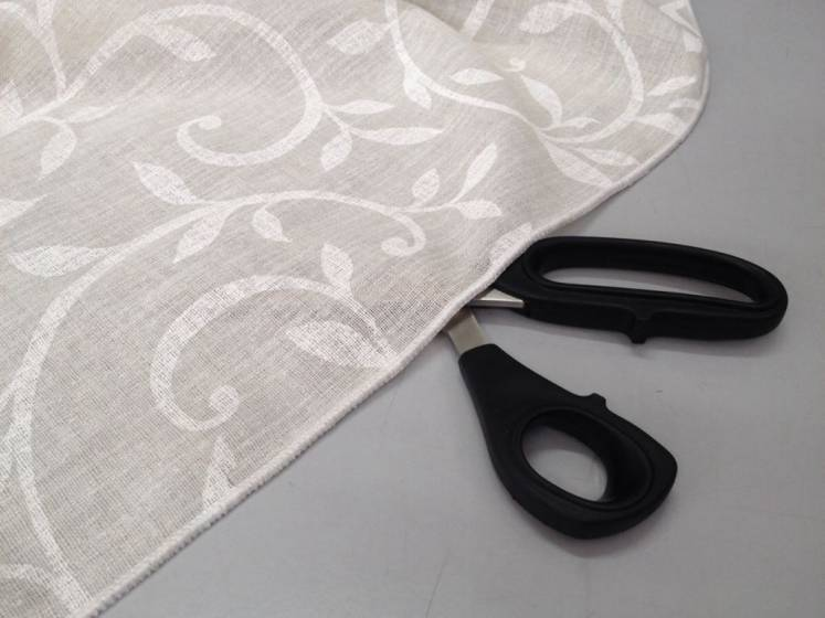 Tessuto tendaggio motivo floreale - bianco/beige/tortora1