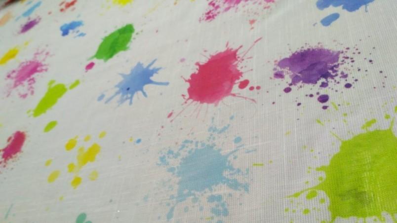 Tendino bianco con fantasia a macchie multicolor1