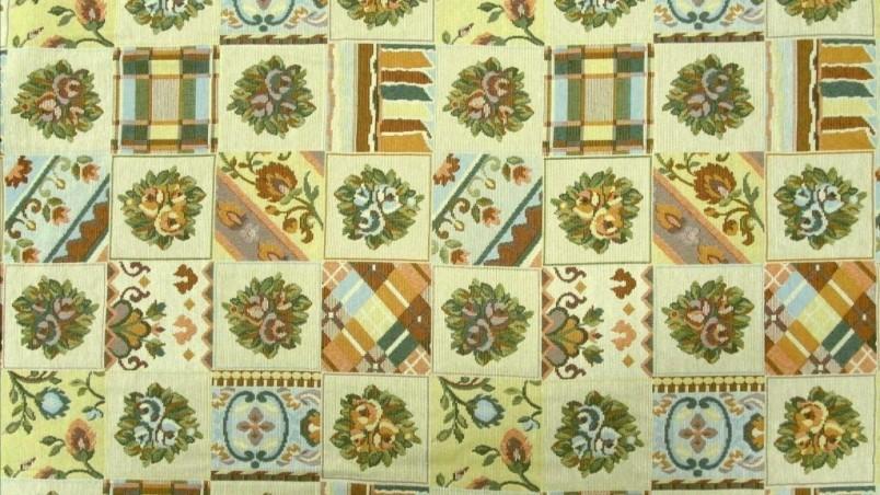 Tessuto per arredamento in cotone gobelin stile rustico - multicolor 2