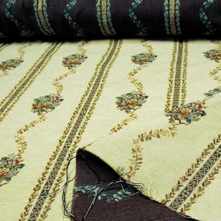 Tessuto in stile rustico per arredamento tovagliato e rivestimenti - avorio