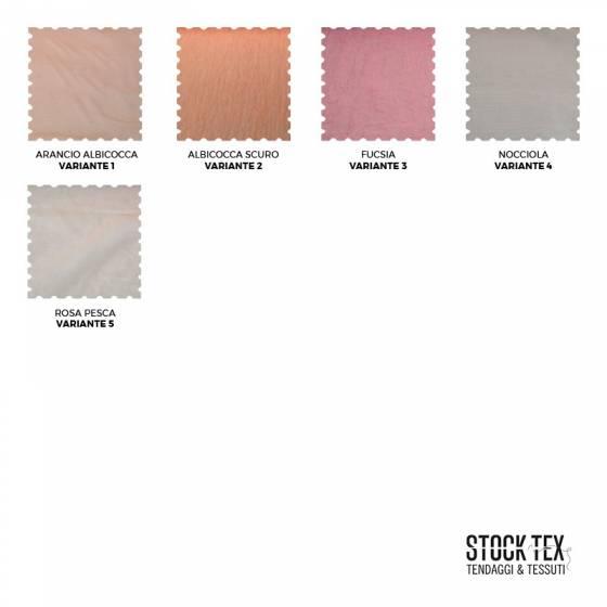 Tessuto tendaggio in organza stropicciata - Arancione/Rosa/Nocciola