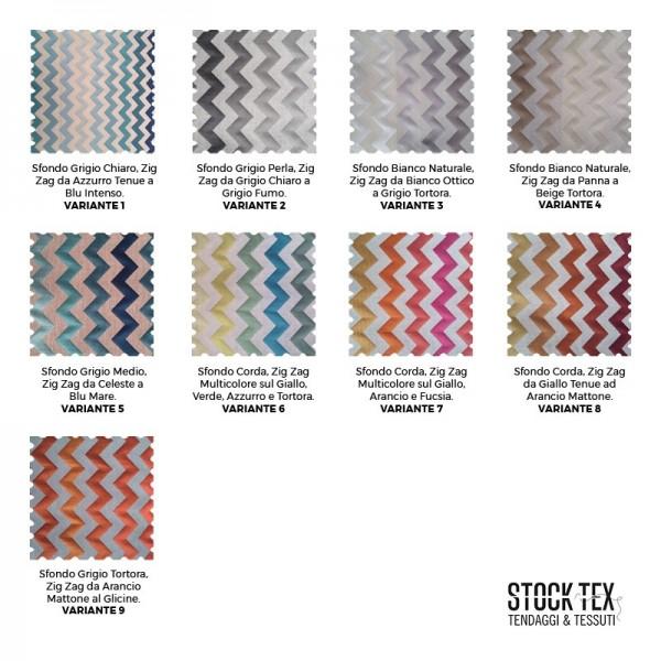 Tessuto arredamento  e tendaggio fantasia zig-zag sfumato - varianti colori