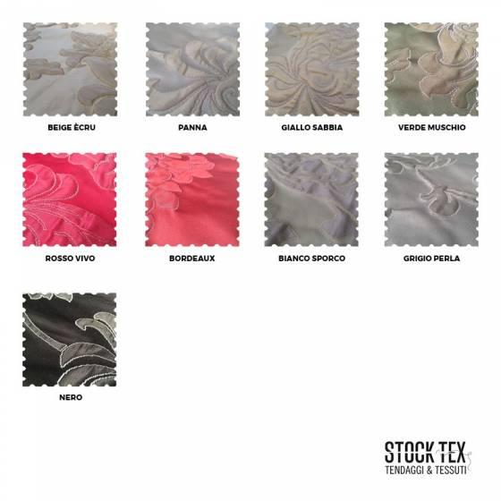 Tessuto per arredo e tendaggio motivo damascato - varianti colori