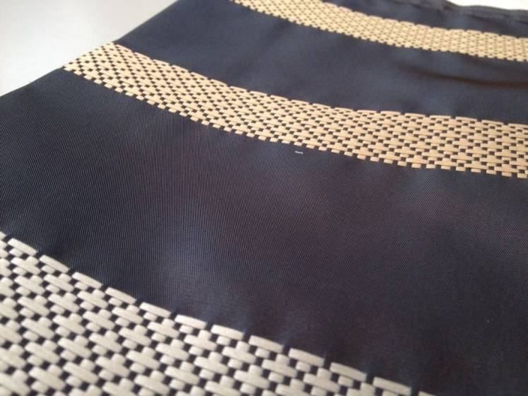 Tessuto per arredo e tendaggi motivo a fasce ricamate - varianti colori3