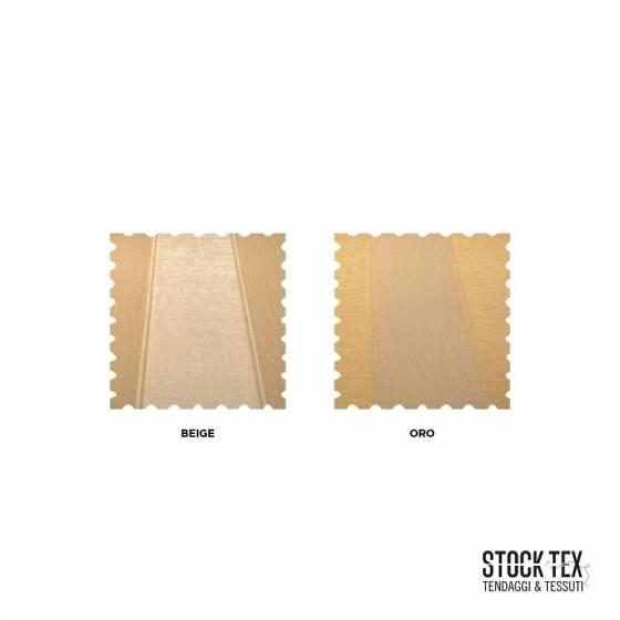 Tessuto per rivestimento e tappezzeria effetto cinigliato - Beige/Oro