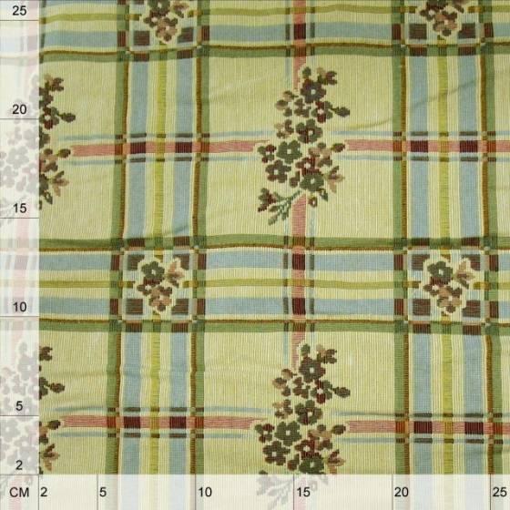 Tessuto in stile rustico floreale per arredamento tovagliato e rivestimenti - multicolor