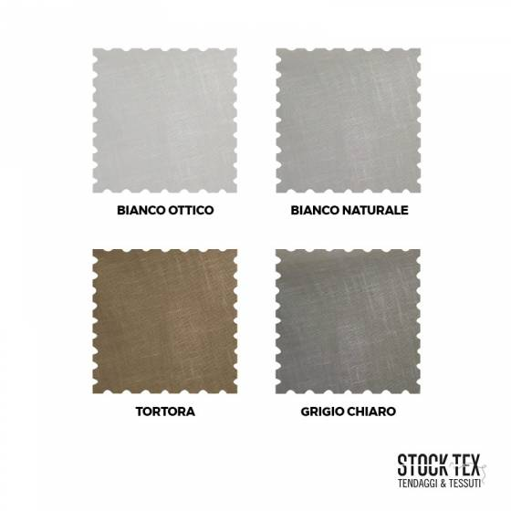 Tessuto tendaggio effetto lino - bianco/tortora/grigio2