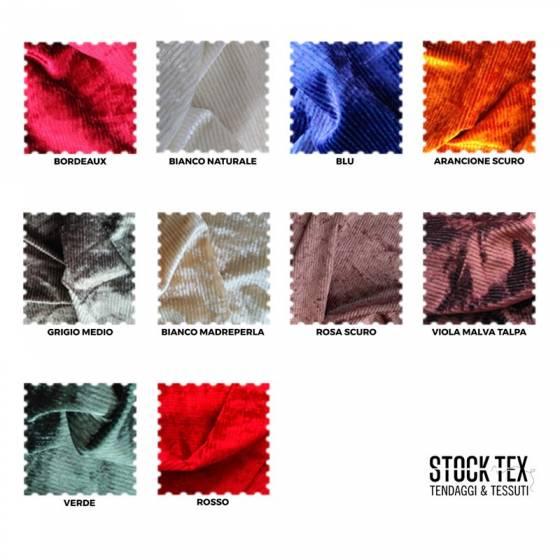 Tessuto per abiti in ciniglia a costine - varianti colori
