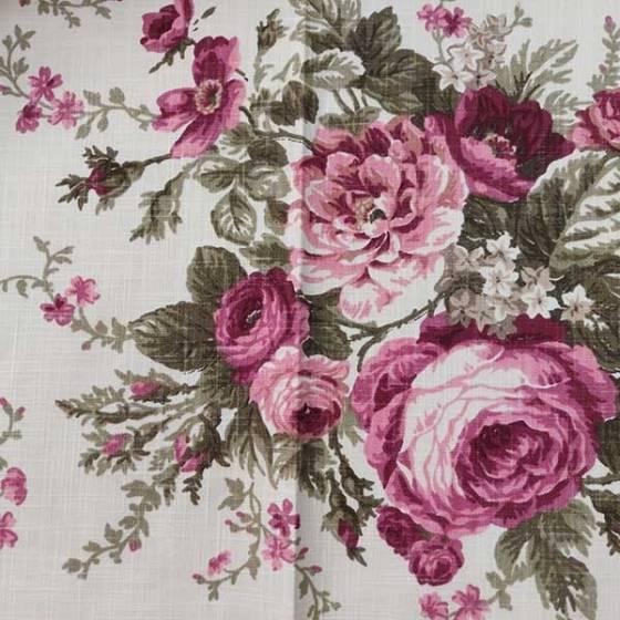 Tessuto arredamento tinta unita e motivo floreale romantico1