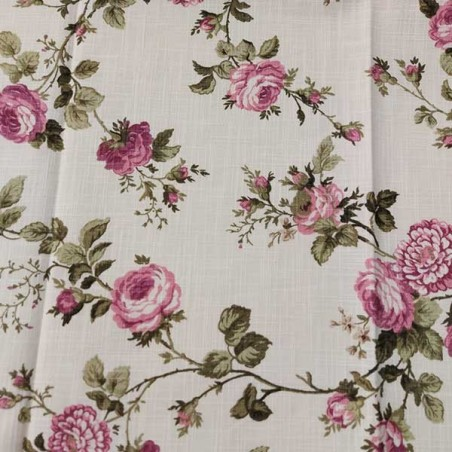 Tessuto arredamento tinta unita e motivo floreale romantico