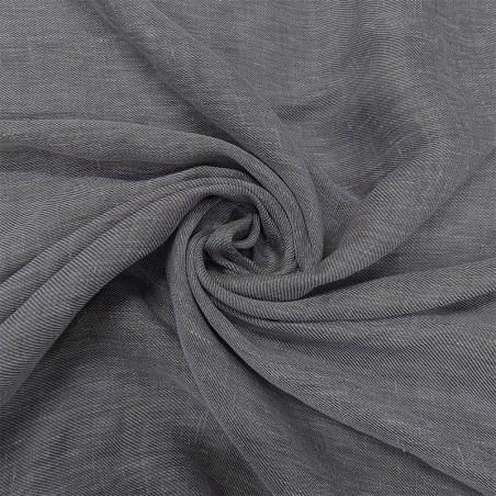 Tessuto tendaggio misto lino - grigio