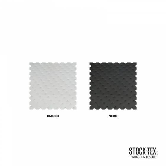Tessuto rivestimento ecopelle trapuntato - bianco/nero