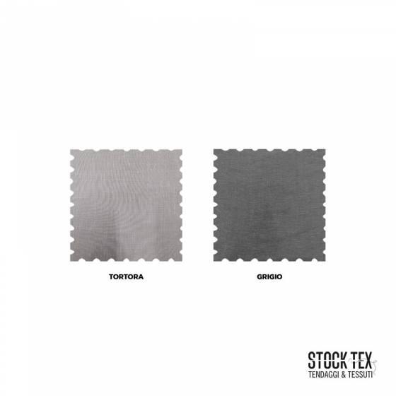 Tessuto tendaggio misto lino - grigio/tortora
