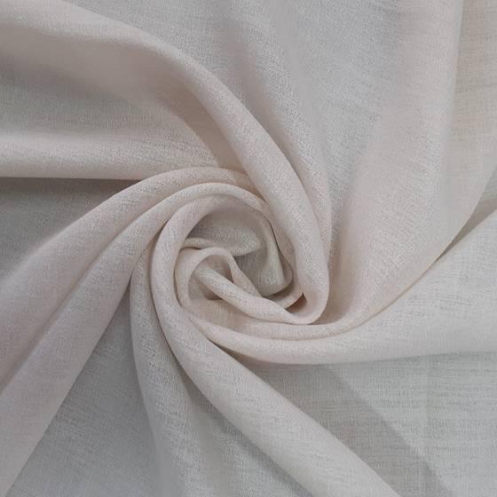 Tessuto tendaggio effetto mussola con tramatura raffinata