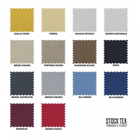 Tessuto tendaggio ignifugo oscurante - varianti colori