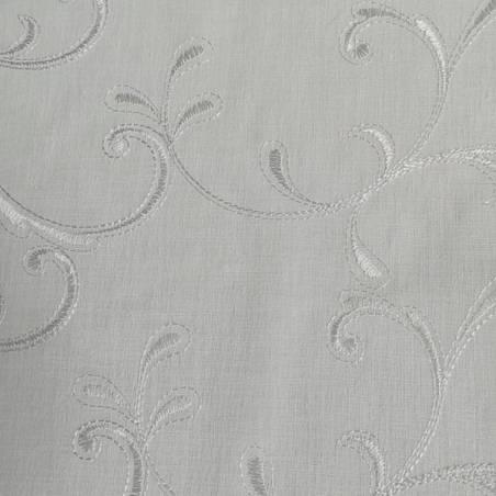 Tessuto per tendini motivo decori raffinati - bianco