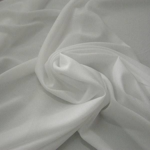 Tessuto tendaggio in crepe effetto seta - avorio/bianco/beige