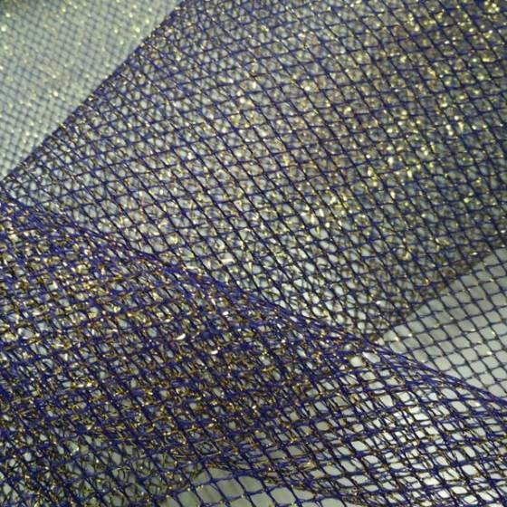 Tessuto a rete per abiti e decori - argento/oro/rosso