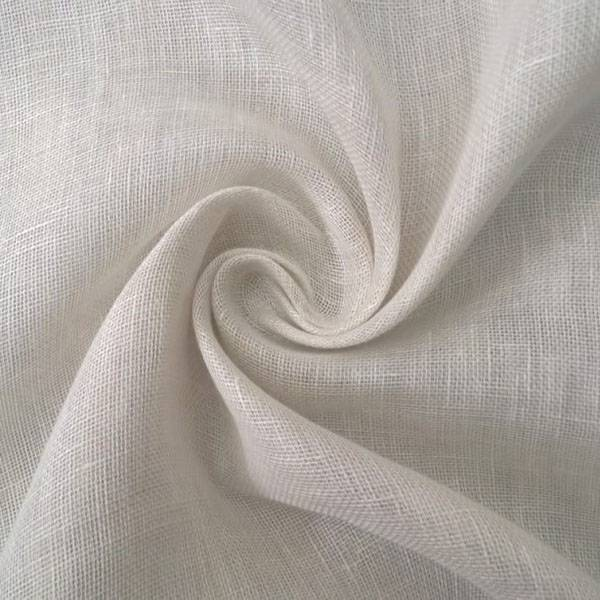 Tessuto per tendaggi in puro lino tinta unita e fantasia