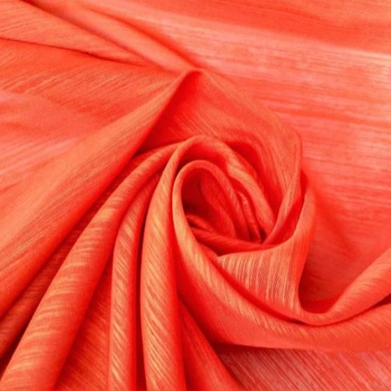 Tendino boho rifinito a crochet - arancione