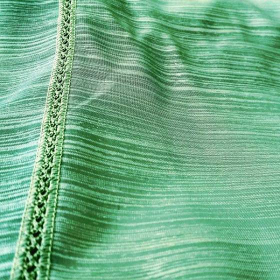 Tendino boho rifinito a crochet - verde