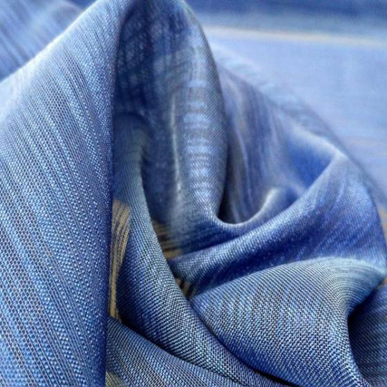 Tendino boho rifinito a crochet - blu