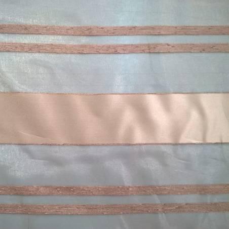 Scampolo per tende in velo organza con bande - oro