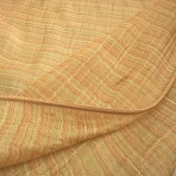 Tessuto per tende in velo organza a fili - oro