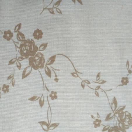 Tessuto per tendini shabby tinta unita e motivo floreale - varianti colori