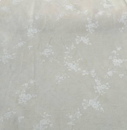 Tessuto per tendini shabby tinta unita e motivo floreale - varianti colori1