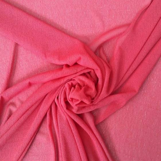 Tessuto per abiti in maglina leggera - rosa/rosso